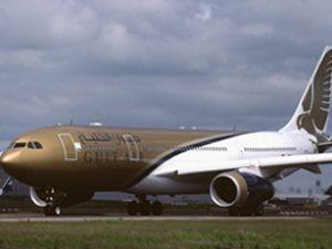 Gulf AIR'e ait uçak zorunlu iniş yaptı