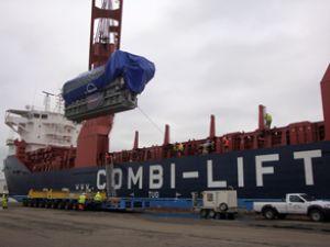 Kıta'dan ilk 3 ayda 6 bin tonluk dev taşıma