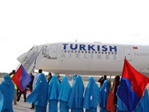 Somali'de Türk Hava Yolları sevinci