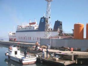 Bursa'da ro ro gemisinde yangın
