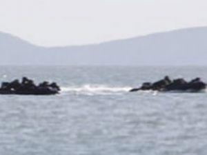 Denizde esrarengiz kaza, yaralı asker var