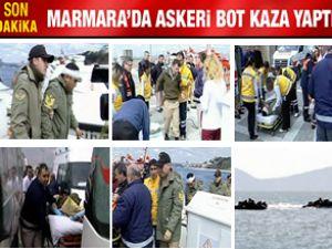 Marmara Denizi'nde iki hücumbot çarpıştı