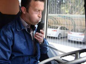 Alkollü sürücü bu otobüsü çalıştıramayacak