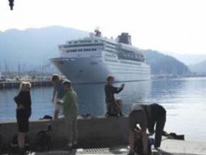 ''Kruvaziyer gemilerine hayır'' eylemi