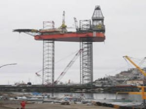 Platformun montajı Giresun'da yapılıyor