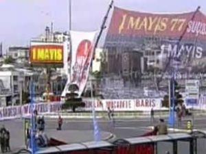 1 Mayıs Taksim Meydanı'nda kutlanıyor