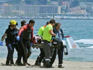 İspanya'da tek motorlu uçak denize düştü