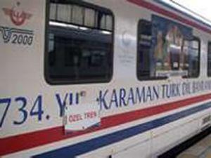 'Türkçe Treni' Kırıkkale tren garına geldi
