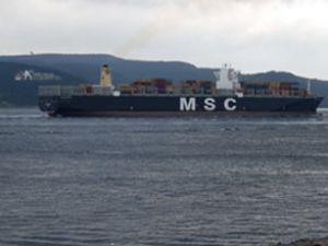 366 metrelik gemi Çanakkale'den geçti