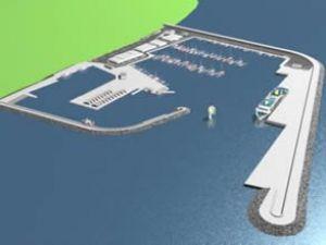 Güzelçamlı'ya, feribot ve yat limanı