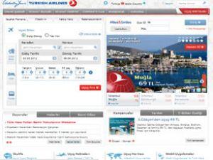 Türk Hava Yolları'nın sitesi yayında