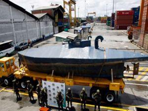Uyuşturucu taşıyan denizaltı yakalandı
