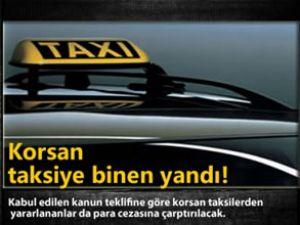 korsan taksiye binene ceza