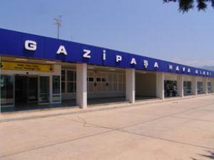 GAZİPAŞA Havalimanı'nda gaza basıldı