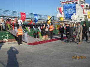 'KOLİN 2' gemisi Kepez'den ilk seferine çıktı