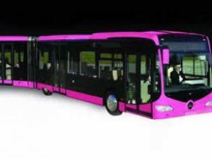 Kadınlar için pembe metrobüs talebi