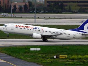 Anadolu Jet Havayolları mecburi iniş yaptı