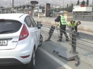 Haliç Köprüsü çıkışında korkunç kaza