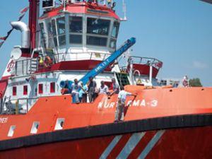 NG gemisi Kurtarma 3 römorkörüne çarptı