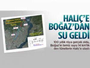 Boğaz'da Haliç'e temiz su aktarıldı
