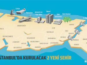 İstanbul'a iki yeni şehir kurulacak