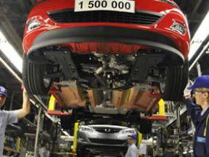 Otomotiv sanayi üretimi yüzde 13 düştü