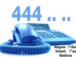 444'lü numaralar 'Akşam 7-Sabah 7' bedava