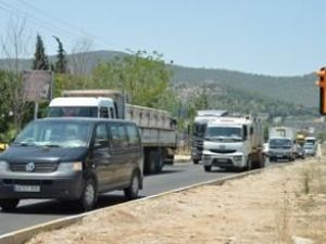"""Bodrum-milas Karayolu""""nda Trafik Karmaşası"""