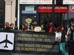 Londra'da Türk Hava Yolları protestosu