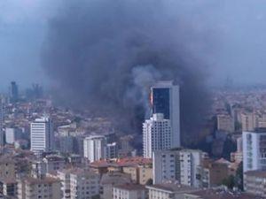 Beşiktaş Fulya'da 42 katlı binada yangın