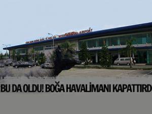 Vietnam'da Boğa havalimanını kapattırdı