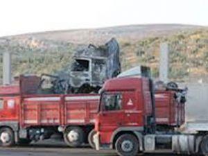 Yanan tırların Türkiye'ye gelişi sürüyor