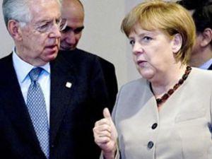 Merkel ve Monti avro krizini görüştü