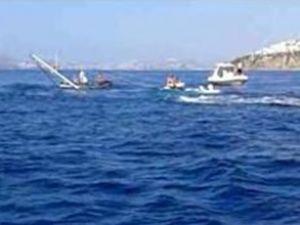 Bodrum'da tekne göz göre göre battı