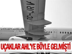 Türk Hava Yolları uçağının slıde'ı patladı