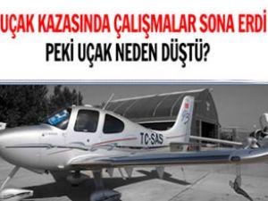 Uçak kazasında çalışmalar sona erdi