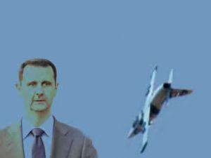 Beşar Esad'ın savaş uçağı görüntülendi