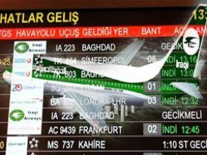 Irak Havayolları'nın uçuşları iptal edildi