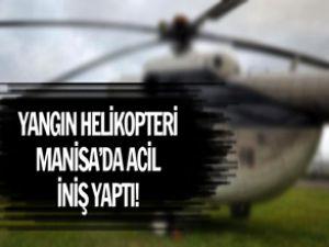 Yangın helikopteri acil iniş yaptı