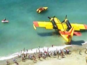 CL-215 amfibik uçağı kalkış yapmadı