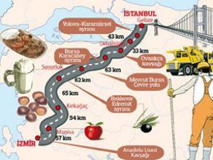 İstanbul - İzmir Otoyolu'nda ilk hedef