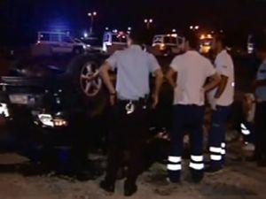Bağcılar'da otomobil köbrüden uçtu
