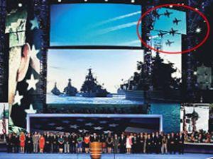 Türk uçakları propaganda malzemesi oldu!