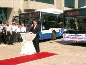 Ankara,doğazgazlı otobüslerine kavuştu