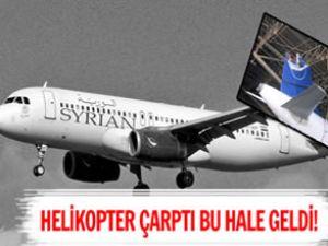 Hasar alan yolcu uçağının görüntüleri çıktı