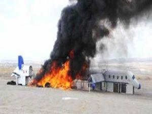 Kapadokya'da uçak yangını ve kurtarma tatbikatı