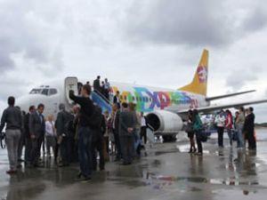 Rusya-Samsun arasında uçak seferleri başladı
