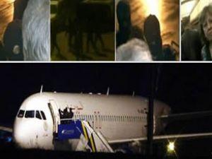 Suriye uçağına operasyon anı!
