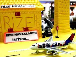 Rizeli, tereyağından havaalanı yaptı