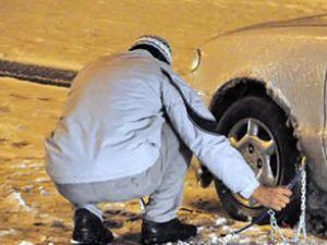 Kış lastiği takmayan 500 lira ceza ödeyecek